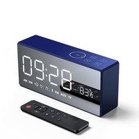 Bluetooth LED Digital Display Table Alarm Clocks FM Radio Smart Mini Subwoofer Stereo with Remote Control Wireless Speaker