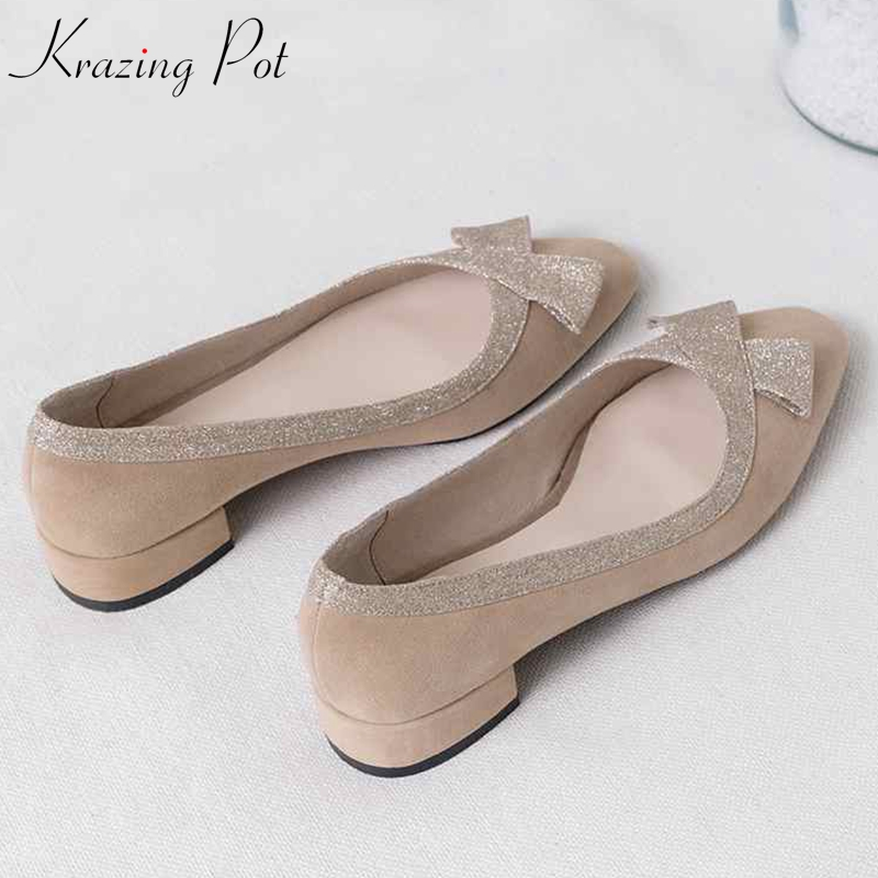 Krazing Pot 2019 full grain leather sheep suede streetwear square toe summer big size online star