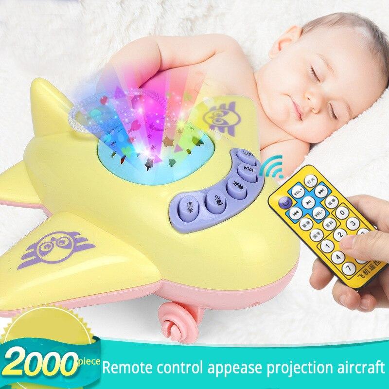 Bebê aeronaves história de projeção chocalhos brinquedos do bebê 0-12 meses chocalhos brinquedos para recém-nascidos brinquedos educativos móveis para berço do bebê