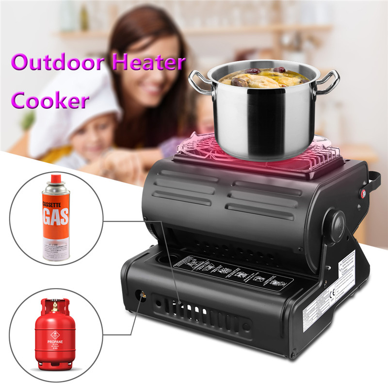Outdoor Heat Cooker Aluminum Alloy Portable Outdoor Stove Camping Tent Portable Gas Heater Stove High Quality Tent Accessories