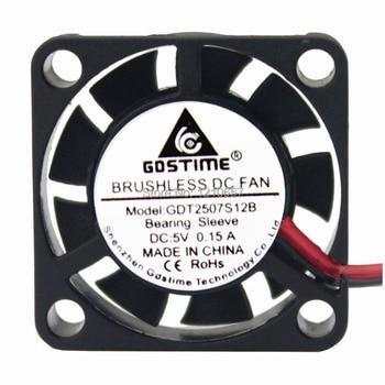 50PCS lot Gdstime DC 5V 2Pin PH2.54 25mm 2cm 25x7mm 2507 Small Brushless Motor Cooling Cooler Fan