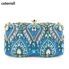 1dafe26e98659 Torebka z kryształkami torebka wieczorowa diamenty kobiety sprzęgła torba  luksusowa marka dla nowożeńców pudełko ślubne moda dam.