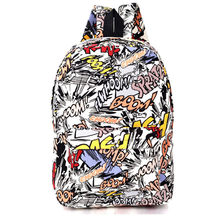 Hippie 2016 Leinwand Rucksäcke Schüler Schultasche Cartoon Druck Rucksack Travel Pack Laptop Graffiti Bolsa Mochila Escolar XA1065C
