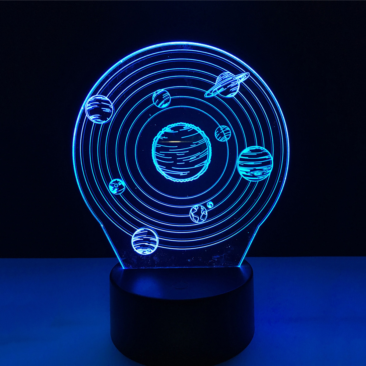 3D Solar system spaceship Acrylic LED Lamp 3D Baby Night Light Sleeping Lighting For Children Touch Night Light Xmas New Years nfl 3d light touch led lamp 7 colors dallas cowboys 3d sleeping led light lampara acrylic usb 3d nightlight 3d kids night light