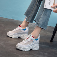 Jookrrix 2018 Summer Fashion Brand Lady Casual Platform Shoes Women Shoe Mesh Black All Match Girl Sneaker Lace Up Breathable 2