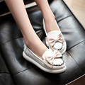 Retro British Style Lady Casual Loafers Low Top Bowtie Platform Girl Shoes Round Toe Cosplay Lolita Princess Wedding Flats Shoes