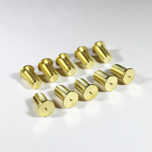 brass welding studs bolts M4 M6 M8 fasteners 4mm 6mm 8mm long to 40mm