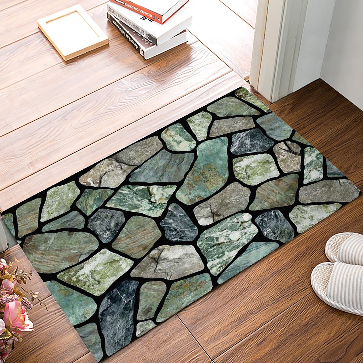Flagstone Green Grey Marble Stone Door Mats Kitchen Floor
