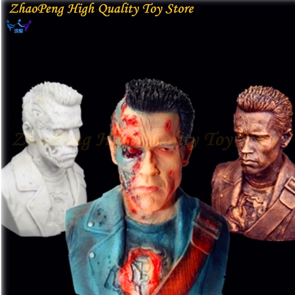 цена на 3 Multi 1/4 Terminator anime figure Arnold Schwarzenegger T800 war-damaged bust resin statue action figure Decoration kids toys