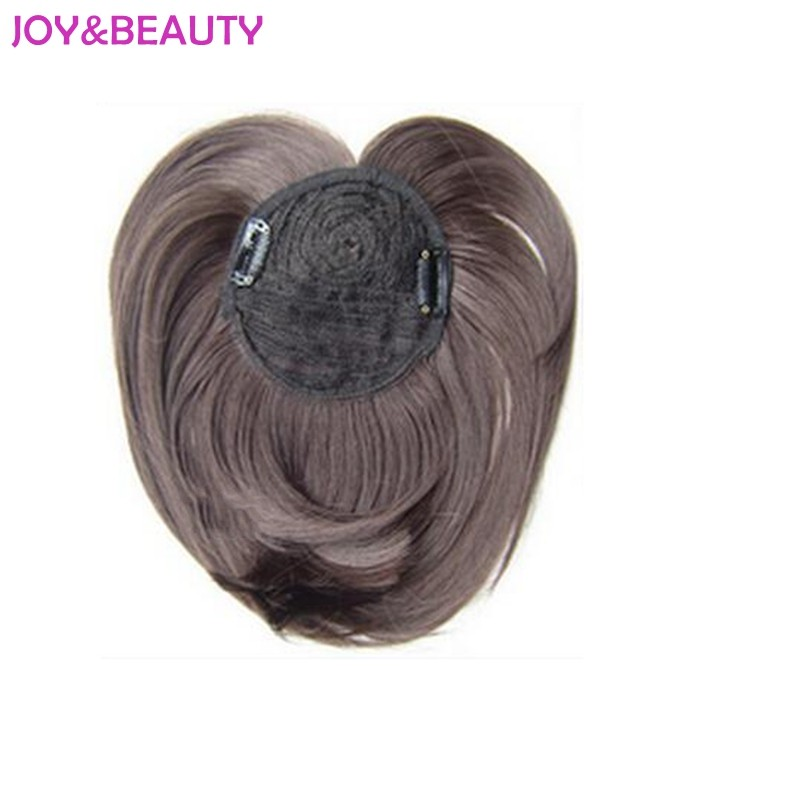 """JOY & BEAUTY Centros de fibra de alta temperatura para el cabello sintético para el cabello flequillo con clip en flequillo limpio y recto para mujer 9 """"de largo 40 g"""