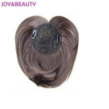 "JOY&BEAUTY Hair Synthetic Hair High Temperature Fiber Centers bang Clip In Women's Straight Neat Bangs 9"" Long 40g"