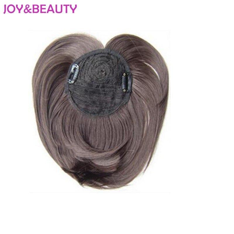 Joie & beauté cheveux synthétiques cheveux haute température centres de fibres bang Clip dans les femmes droites nettes frange 9 Long 40g