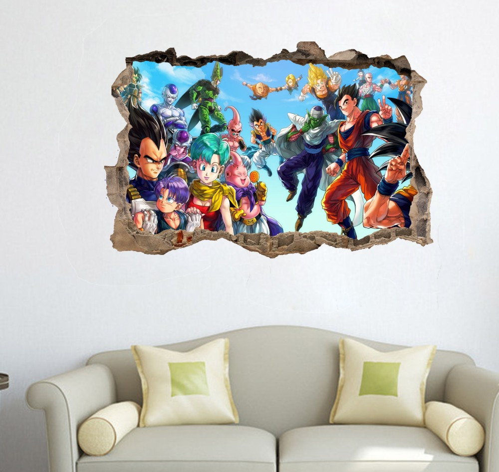 Kids bedroom decor picture more detailed picture about dragon dragon ball z crew wall decor sticker dragonball wall decal 75x50cm dragonball fans gift home decor amipublicfo Images