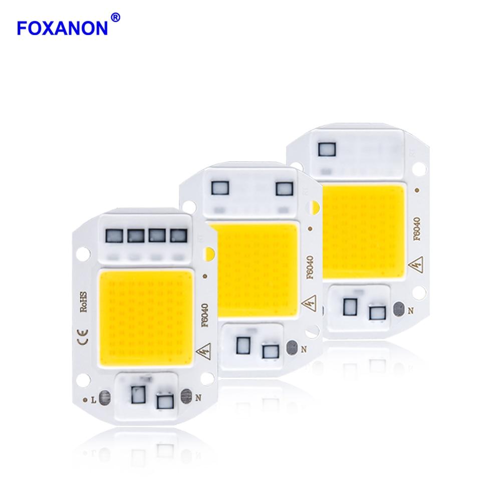 Foxanon LED Lamp beads Smart IC COB LED Chip Lamp 20W 30W 50W DIY Flood Light Diode Spotlight LED Matrix For Projector Spotlight