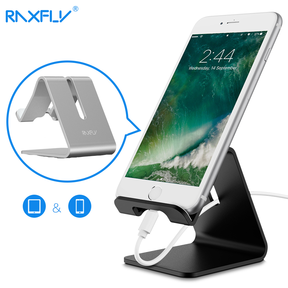 Aluminium Alloy Tablet PC Mobile Phone Desk Holder Fashionable Cell Phone Holder Desk Holder For Phone with Anti Slip Silicone