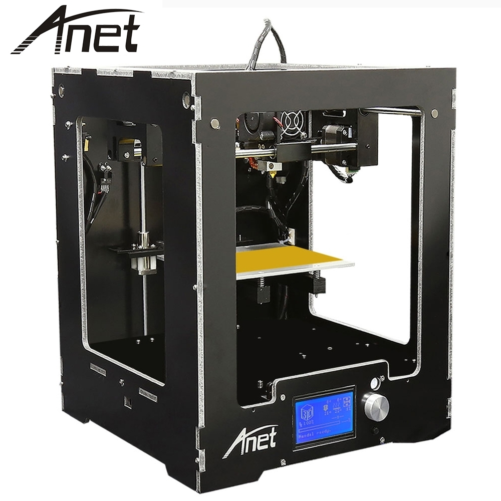 Anet A3 3D Printer Full Aluminum Plastic Frame Assembled LCD Display 16GB TF Card Off-line Printing + 16gb TF Card Free Gift full metal frame heated bed 3d printer professional 3d color printer with 2gb sd card lcd 40m filament for free