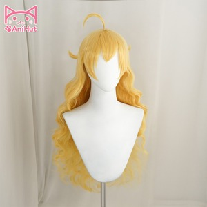 Image 2 - Peluca de pelo largo ondulado de Yang Xiao, color amarillo, resistente al calor, Cosplay, pelo sintético, peluca de Cosplay Yang Xiao Long