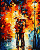 Frameless Romatic Lover DIY Oil Painting By Numbers Home Art Wall Figure Pictures For Living Room
