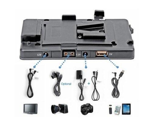 WONDLAN free shipping DSLR 5D2 Camera V lock power supply system Muitl Output Adaptor USB  v mount plate for Camera DSLR battery аксессуары для видеокамеры wondlan 5d2 ii
