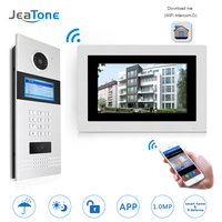 7 WIFI IP Video Door Phone Intercom Wireless Door Bell Building Security Access Control System Touch