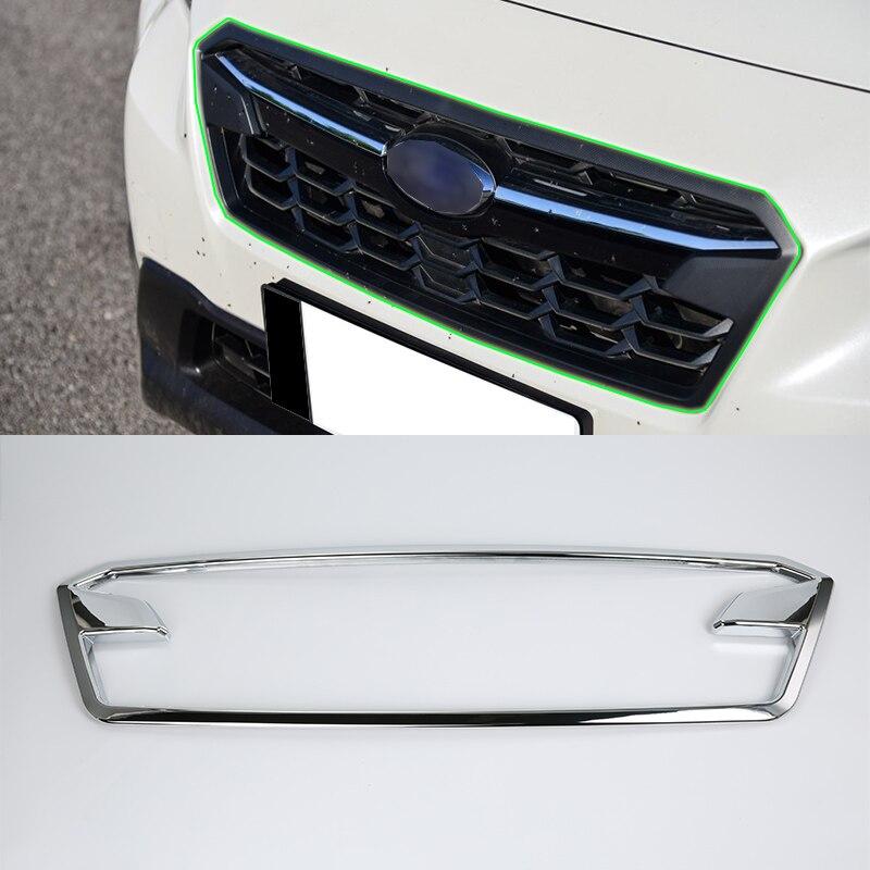 Accessoires de voiture extérieurs en chrome ABS OUBOLUN garniture de calandre avant de haute qualité pour SUBARU XV 2017