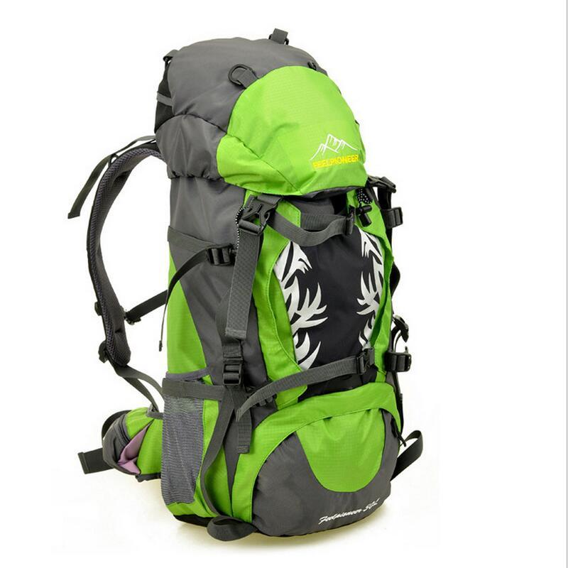 Acampamento ao ar livre mochila de Escalada Caminhadas mochila de montanhismo saco pacote de equitação à prova d' água profissional 50L 7 cor