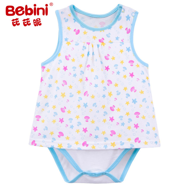e2627bdf553 BEBINI sweet Baby Girl one-piece Bodysuits newborn infant girl climbing  clothes toddler top quality jumpsuits