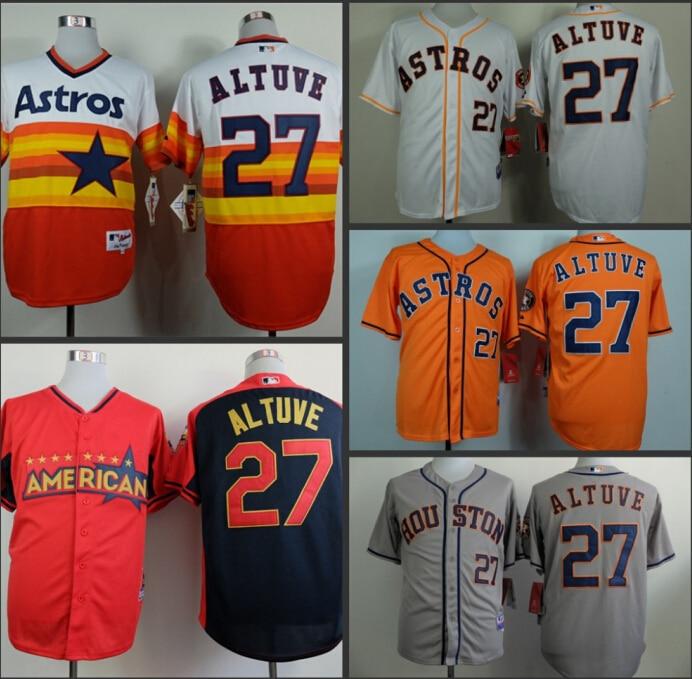 new product 32440 bb93a Jose Altuve jersey Houston 27 Jose Altuve Baseball jerseys ...