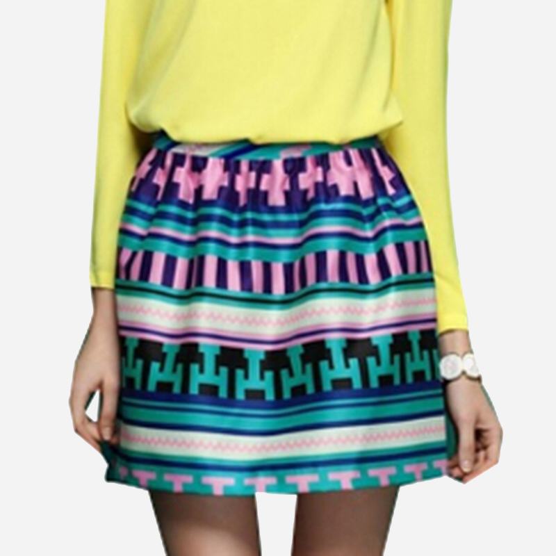 new arrival fashion geometric pattern striped plus size