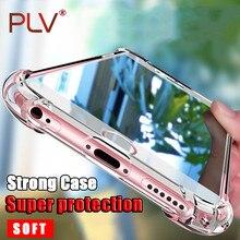 PLV Phone Case For iPhone X 8 8 Plus Silicone Case Cover For iPhone 6 6s Plus 7 Plus Case Ultra Thin Soft Transparent TPU Case