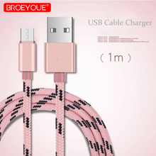 Nylon USB Type C able Braided Micro Data Sync Charger Cable For Samsung HTC LG Huawei Xiaomi Android Phone Cables Charger Data communication c able for servo drive mr cpcatcbl3m c able mr j2s a usb mr cpcatcbl3m data c able for mr j2 debug c able