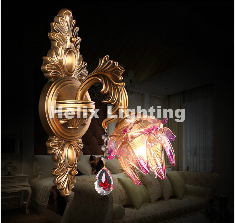 European zinc alloy Luxury Crystal Light E14 LED Wall Lamp Bedroom Bedside Lamp Aisle Wall Lamp AC 100% Guaranteed Free Shipping new k9 crystal lamp classic zinc alloy wall lights e14 led single bedside wall lamps for bedroom f032 1