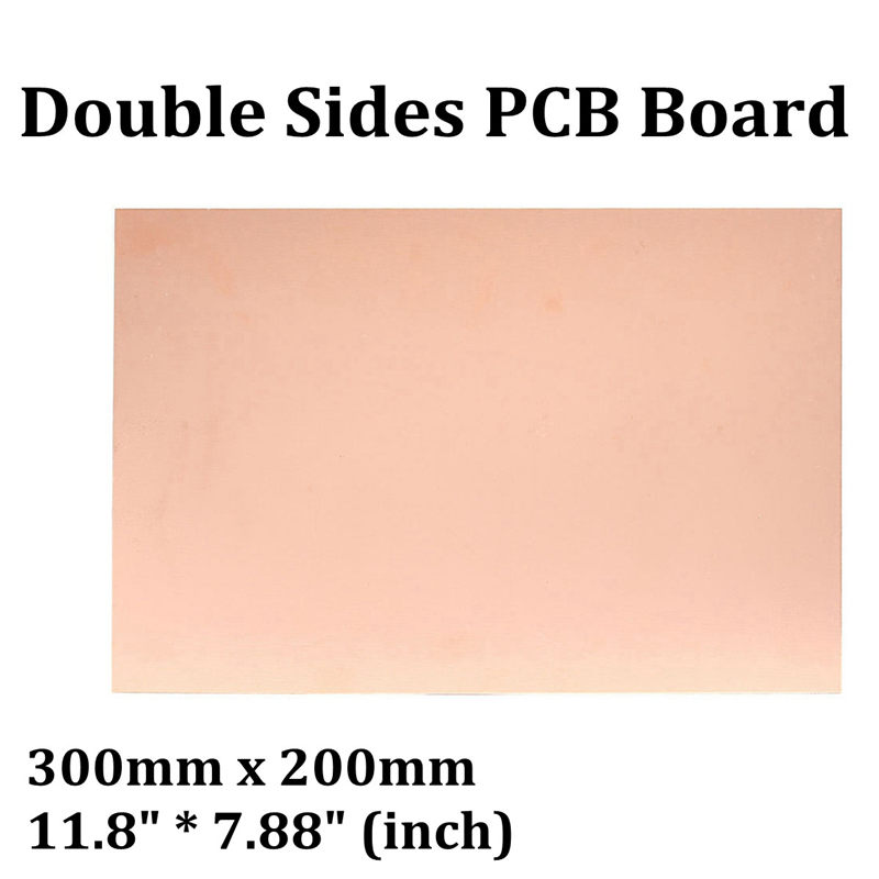 New Arrival 300x200mm Double Side Copper Clad Laminate PCB FR4 Board Fiberboard CCL NEW 1mm BoardsNew Arrival 300x200mm Double Side Copper Clad Laminate PCB FR4 Board Fiberboard CCL NEW 1mm Boards