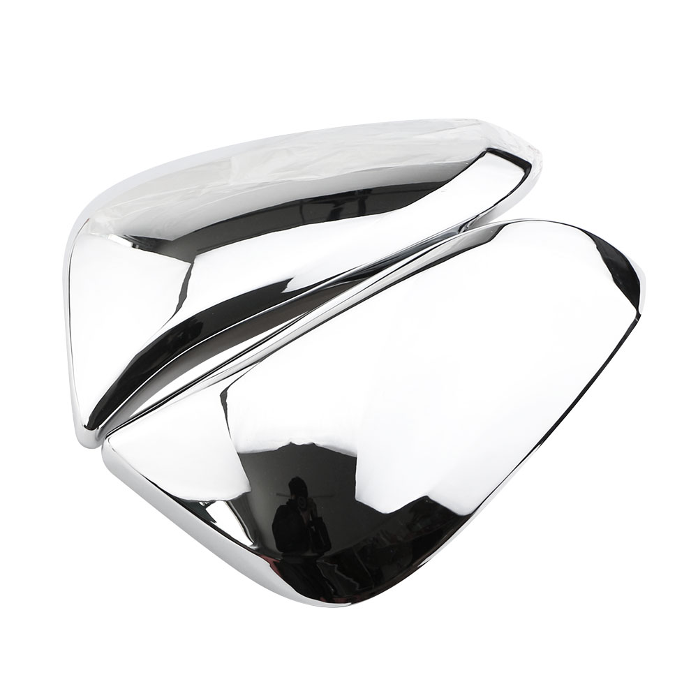 Jameo Auto Car ABS Chrome Rear View Mirror Protection Cover Rearview Mirror Stickers for Toyota Innova 2016 2017 Accessories mirror silver chrome vespa open face