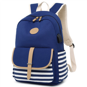 Image 3 - rucksack women backpack usb Backbag print Laptop Backpack with Charger Female Back Pack school bags for teenage girls Black Set