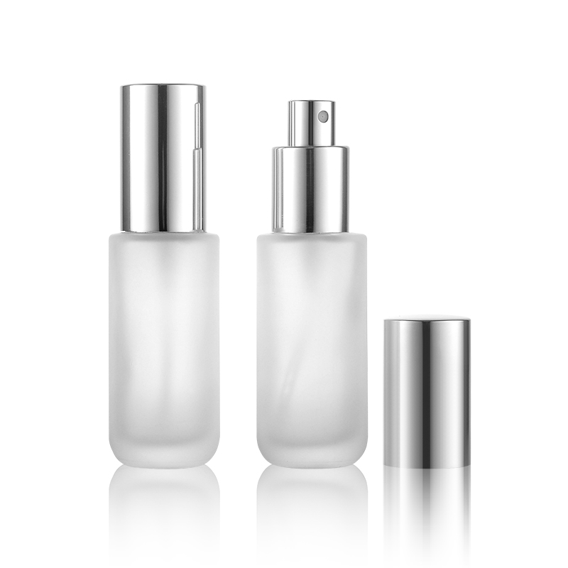 Refillable Bottles Diplomatic 30ml 15pcs New Glass Perfume Spray Bottle Cylindrical Silver Aluminized Sprinkler Fog Glass Bottle Hot Sale Skin Care Tools