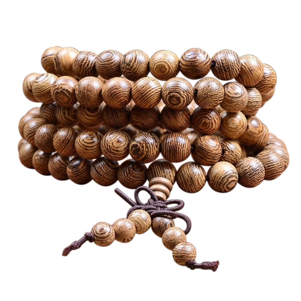 1 Pcs 108 Natural Sandalwood Buddhist Buddha Wood Prayer Bead Mala Unisex Men Bracelets & Bangles Jewelry