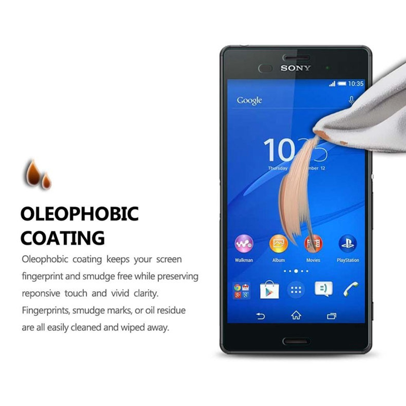 Image 4 - 2PCS = Front + Back Screen Protector Explosion Proof Premium Tempered Glass Film for Sony Xperia Z M4 M5 Z4 Z5 Z2 Z3 Compact-in Phone Screen Protectors from Cellphones & Telecommunications