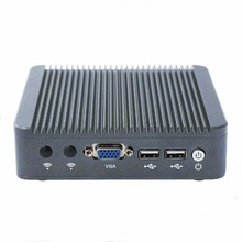 Домашний компьютер без вентилятора Двухъядерный Intel Celeron J1800 VAG Мини PC Win7 2 * USB2.0 крошечные столе VAG, lan, 2.41up до 2.58 ГГц N80