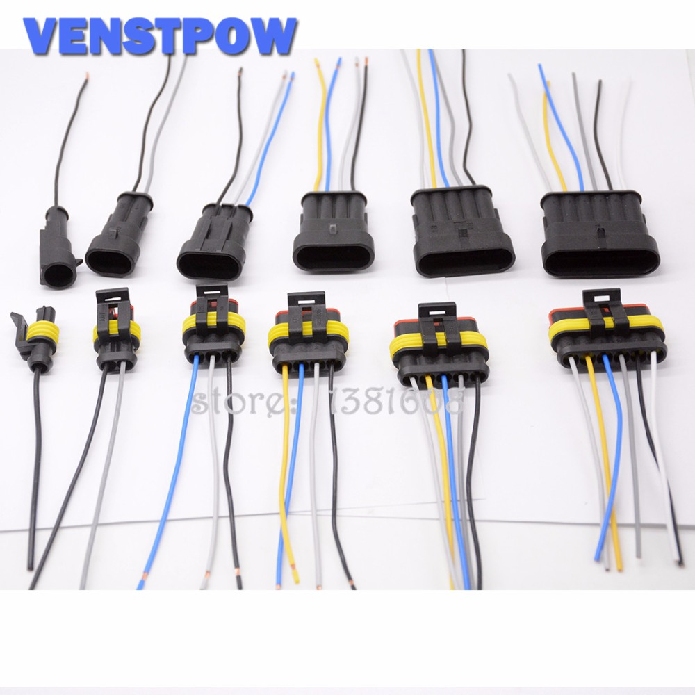 1 2 3 4 5 6 Way 1P 2P 3P 4P 5P auto connector Male & Female Waterproof Electrical Connector Plug with cable Auto wire connector