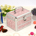 New Make up Box Makeup Case Beauty Case Cosmetic Bag Multi Tiers Lockable Jewelry Box