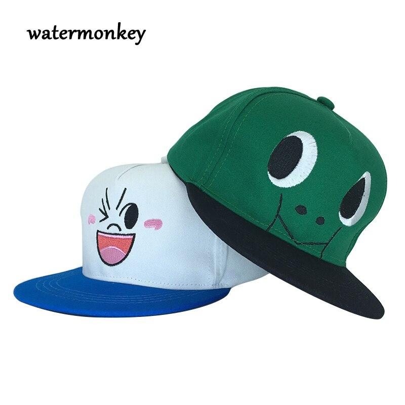 100% новые хлопковые милые дети бейсболка летняя детская шапочка детская шапка дети мультфильм Casquette плоским Snapback мальчиков хип-хоп Шапки