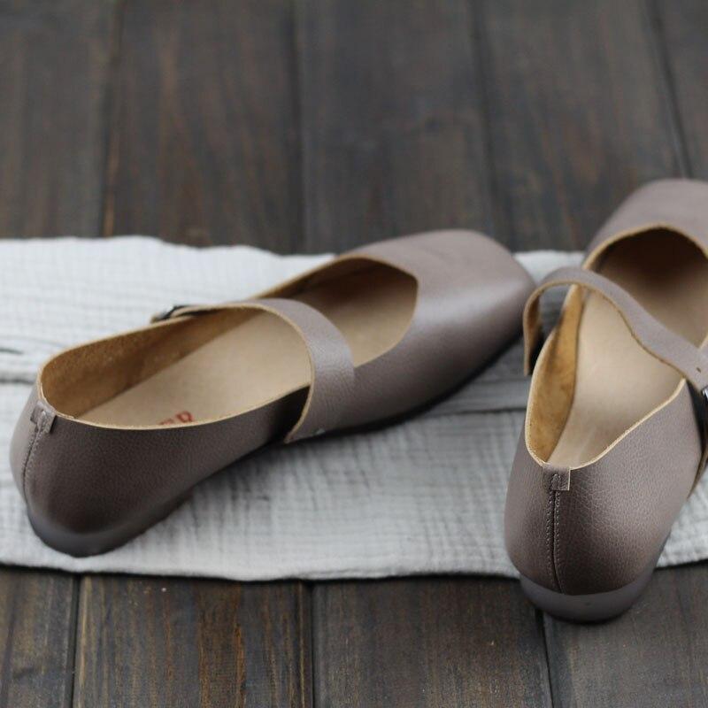Bout Documentaire En Cuir 2018 Pippin Nouveau Printemps Careaymade Femelle Jurchen Plates Grey Fltas Sen Chaussures Rétro À Carré FUcznxc