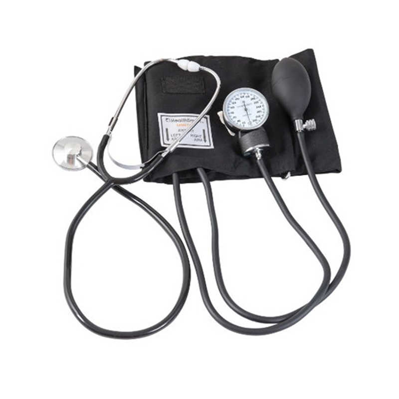 Upper Arm Blood Pressure Manual   Monitor Aneroid Sphygmomanometer Cuff Stethoscope Kit Fonendoscopio Meter Device
