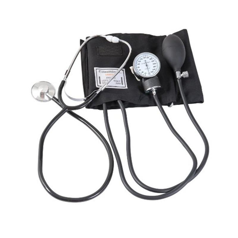 Upper Arm Blood Pressure Manual   Monitor Aneroid Sphygmomanometer Cuff Stethoscope Kit Fonendoscopio Meter Device
