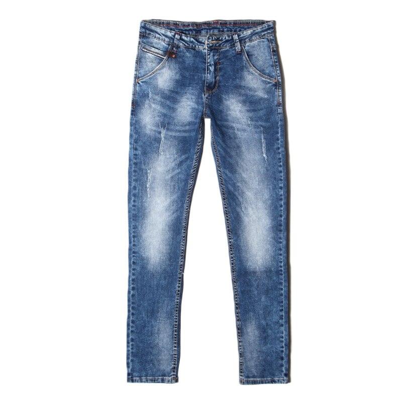 Taddlee Brand Mens jeans 2016 slim fit jeans denim Biker jeans Straight Leg pants Washed jeans