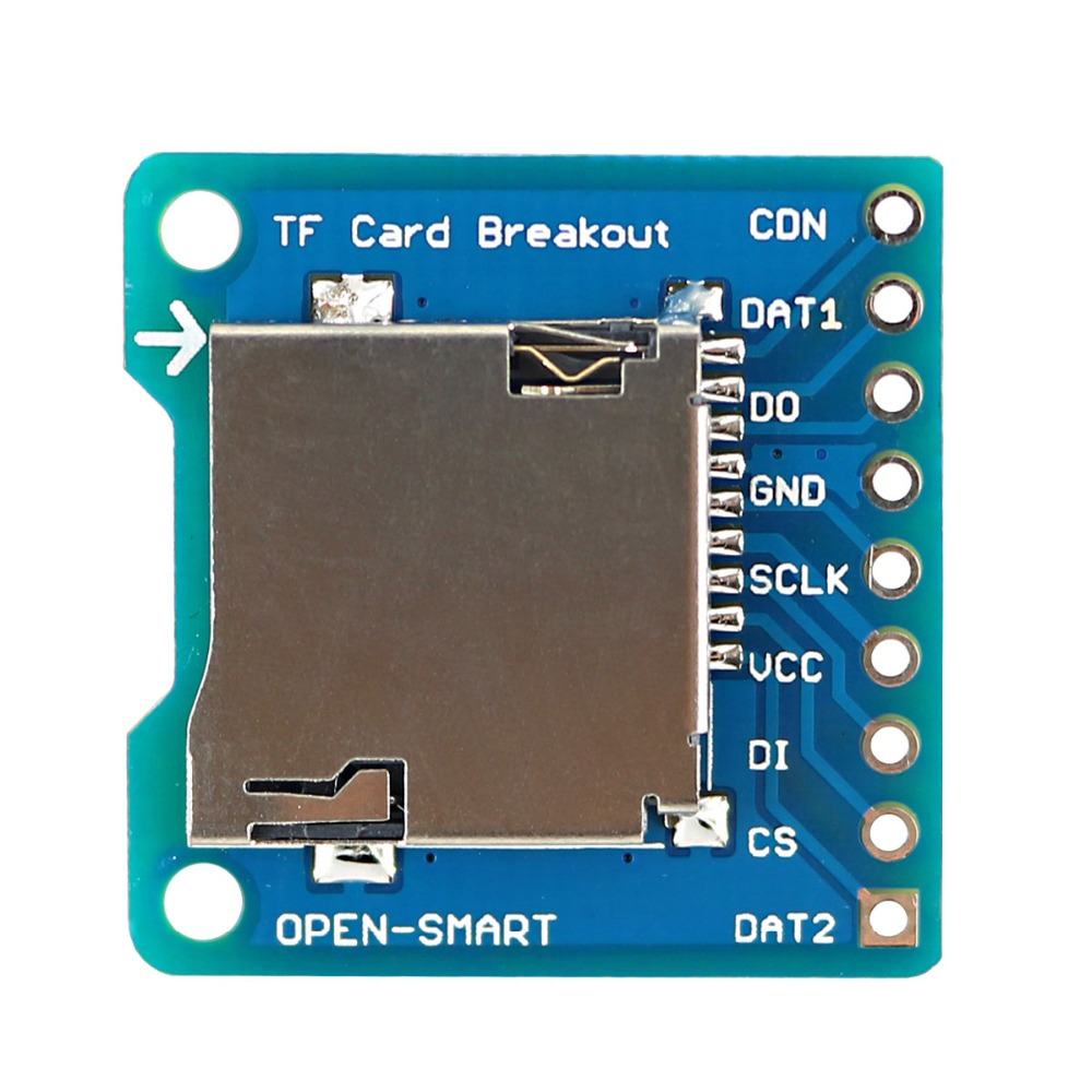 OPEN-SMART Micro SD / TF Card Breakout to DIP Board Module for Arduino DIY Micro SD / TF Card Adapter Breakout Board ModuleOPEN-SMART Micro SD / TF Card Breakout to DIP Board Module for Arduino DIY Micro SD / TF Card Adapter Breakout Board Module