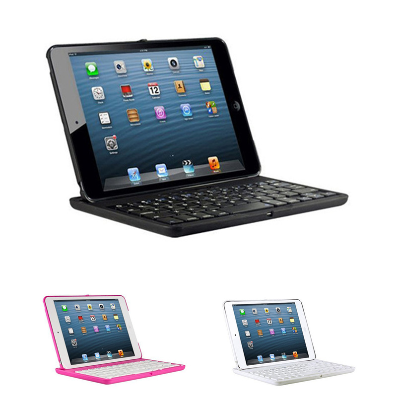 Portable 360 Swivel Rotate Wireless 3.0 Bluetooth Keyboard with Holder Cover Case for iPad Mini 1 2 3 QJY99 aluminium ultra slim portable wireless bluetooth 3 0 keyboard case cover holder for ipad mini 4 new 7 9inch keyboard cover case
