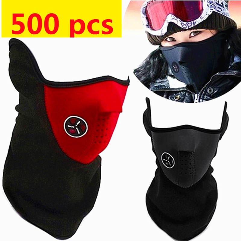 500 pcs Neoprene mask Neck Warm Half Face Mask Winter Veil Windproof Sport Bike Bicycle cycling