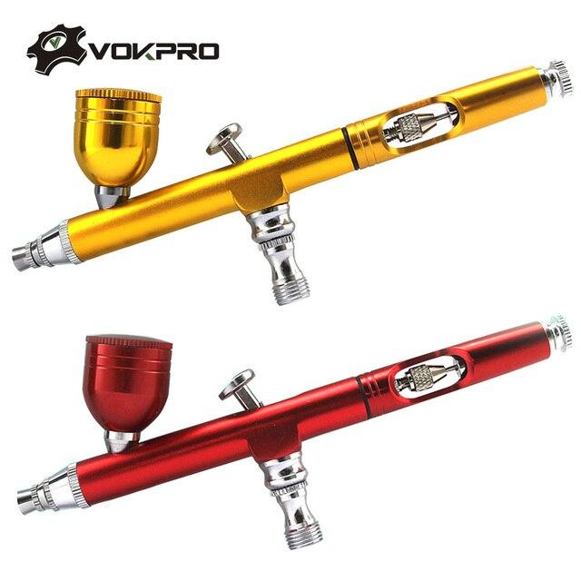 7cc 0,2mm/0,3 boquillas aerógrafo con 11 Uds Set de limpieza pistola pulverizadora accesorios torta decoración cepillos para manicura cepillo de aire